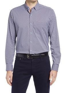 Men's Johnston & Murphy Xc4 Microprint Button-Down Shirt