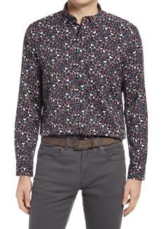 Men's Johnston & Murphy Xc4 Performance Print Button-Down Shirt