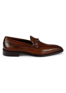 Johnston & Murphy Parkes Leather Bit Loafers