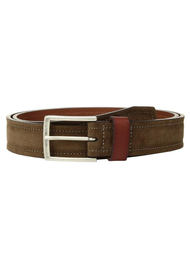 Johnston & Murphy Suede & Leather Loop Belt