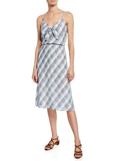 Joie Abiah Silk Tie-Front Dress