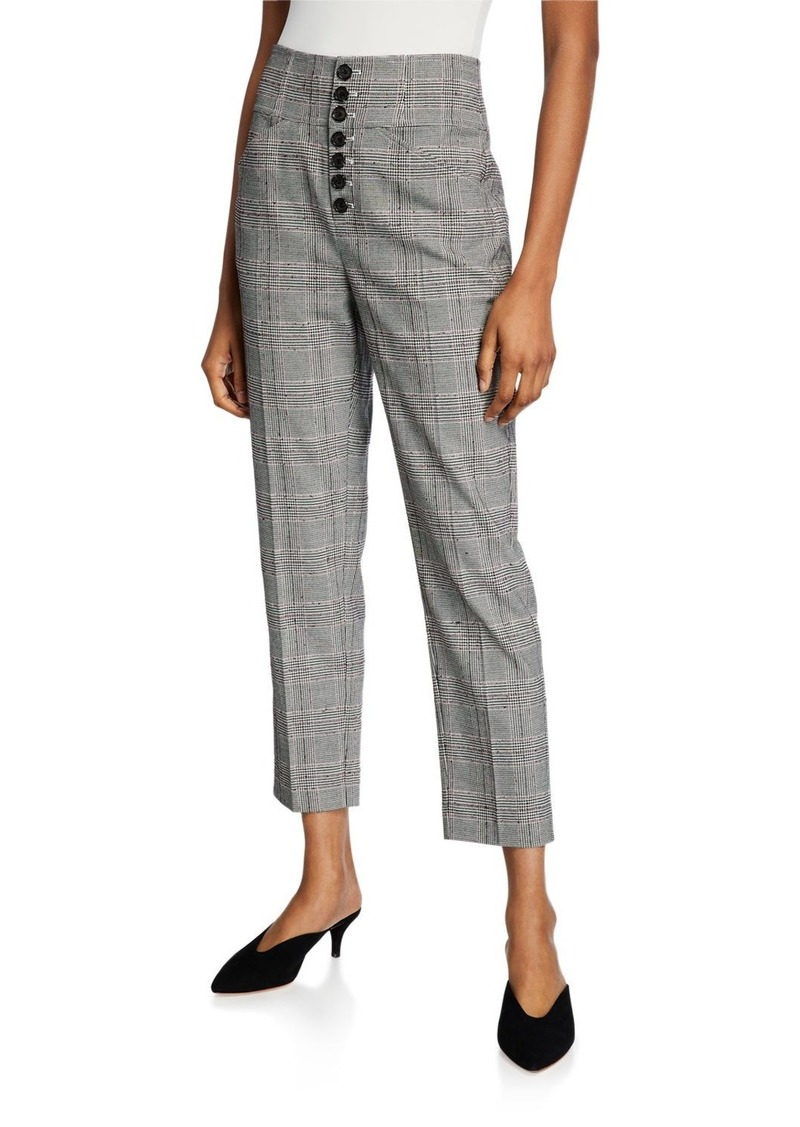Joie Abony Cropped Button-Front Pants