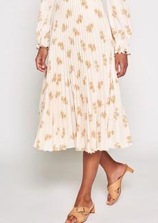 Joie Adeena Floral Pleated Midi Skirt