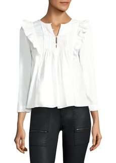 Joie Adelheid Ruffled Cotton Blouse