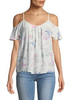 Joie Adorlee Floral Cold-Shoulder Blouse