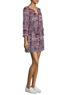Joie Aili Tile Printed Silk Dress