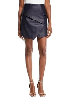 Joie Akirako B Short Leather Skirt