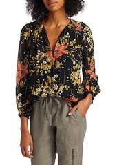 Joie Albany Floral Silk Blouse