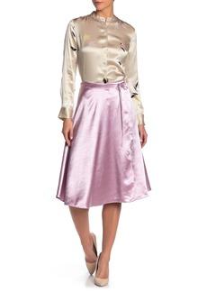 Joie Alberic A-Line Satin Skirt