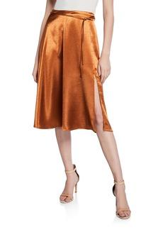Joie Alberic Shiny Mid-Rise Skirt