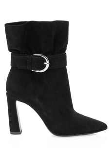 Joie Alby Belted Suede Ankle Boots
