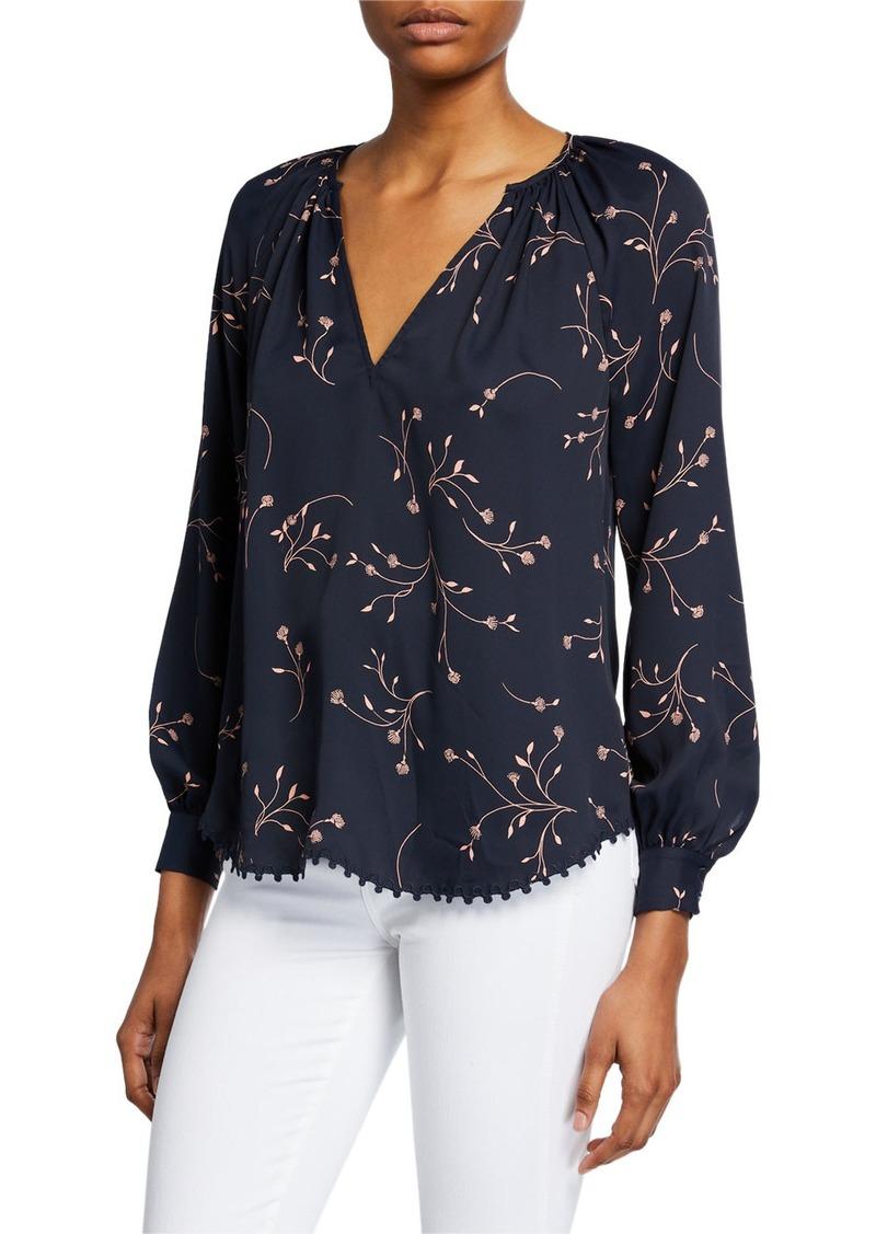 Joie Allea Floral V-Neck Long-Sleeve Top