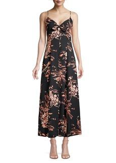 Joie Almona Floral Empire-Waist Maxi Dress
