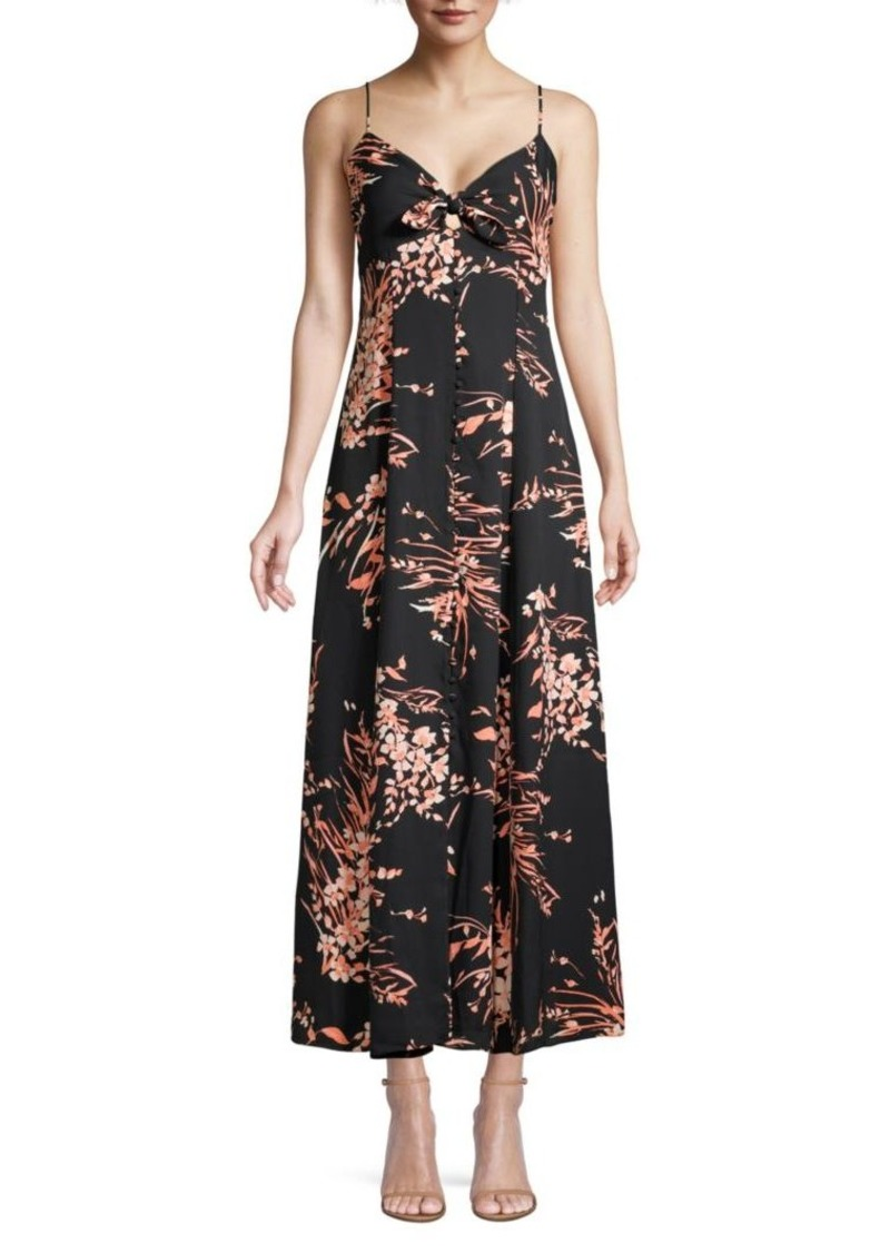 Joie Almona Floral Empire-Waist Maxi Dress