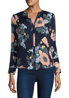 Joie Amarant Bella Floral Silk Blouse