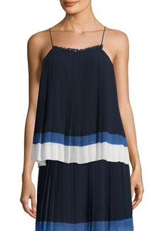 Joie Amzie Pleated Striped Tank Top