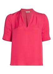 Joie Ance Silk Puff-Sleeve Blouse