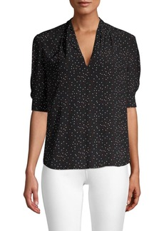 Joie Ance V-Neck Printed Blouse