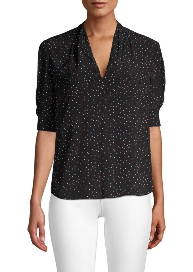 57dae5a53592d Joie Ance V-Neck Printed Blouse