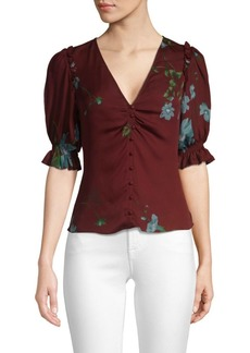Joie Anevy Puffed Sleeve Blouse