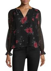 Joie Anjanette Silk Floral-Print Blouse