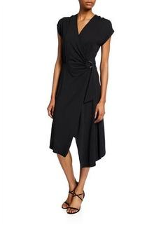Joie Anjula Draped Short-Sleeve Wrap Dress