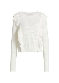 Joie Apollonia Ruffle Trim Sweater