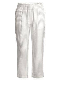 Joie Araona Striped Straight-Leg Crop Pants