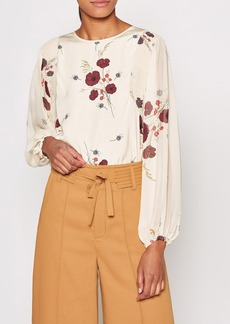 Joie Ariadne Floral Long Sleeve Blouse