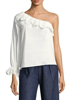 Joie Arianthe Ruffled One-Shoulder Top