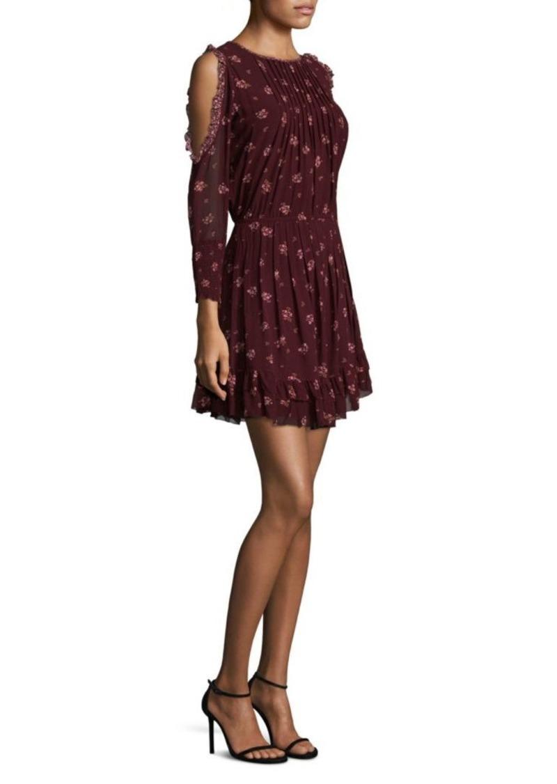 Joie Arleth Cold-Shoulder Silk Dress