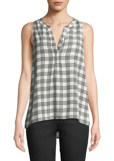 Joie Aruna Checkered Sleeveless Blouse