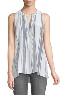 Joie Aruna Tea-Stripe Sleeveless Blouse