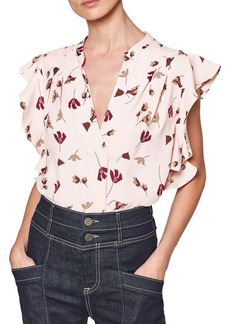 Joie Ashtina Ruffle Floral Top