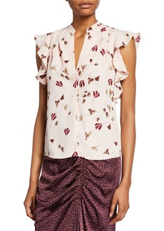Joie Ashtina Sleeveless Floral V-Neck Top