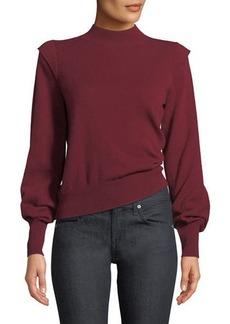 Joie Atilla Bishop-Sleeve Wool-Cashmere Sweater