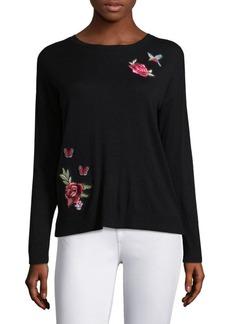 Joie Audrea Rose Patch Sweater