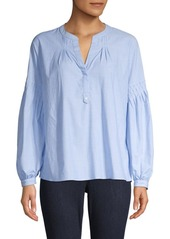 Joie Azabeth Long-Sleeve Cotton Top
