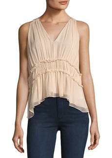 Joie Bach Ruffled Silk Top