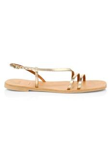 Joie Baja Flat Metallic Leather Slingback Sandals