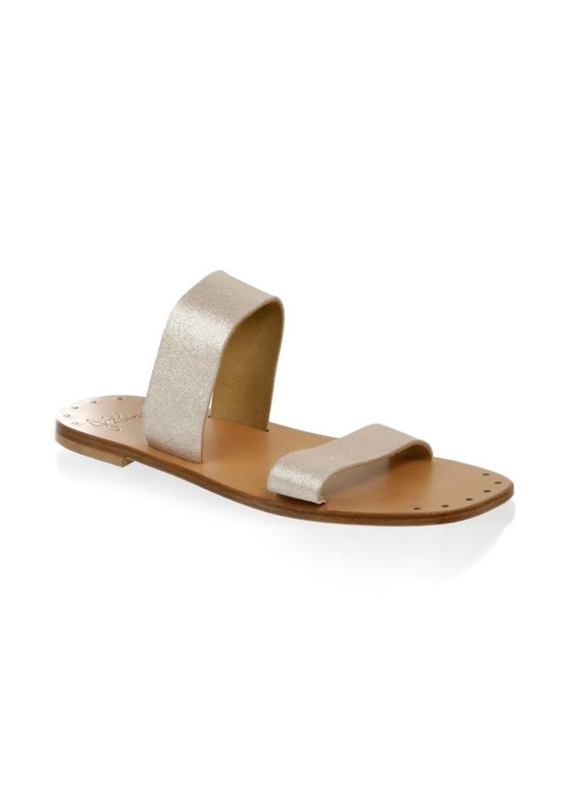 1a9240d4de9 Joie Bannerly Metallic Leather Sandals