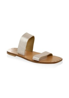 Joie Bannerly Metallic Leather Sandals
