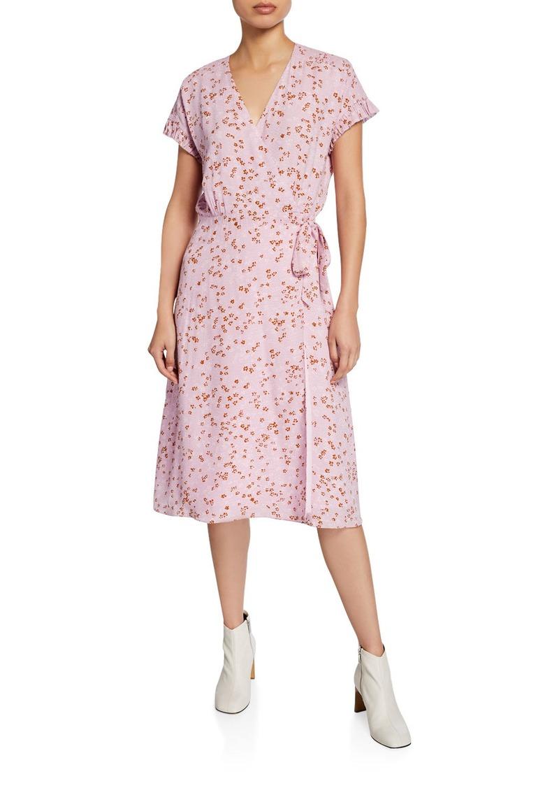 Joie Bethwyn D Floral Short-Sleeve Wrap Dress