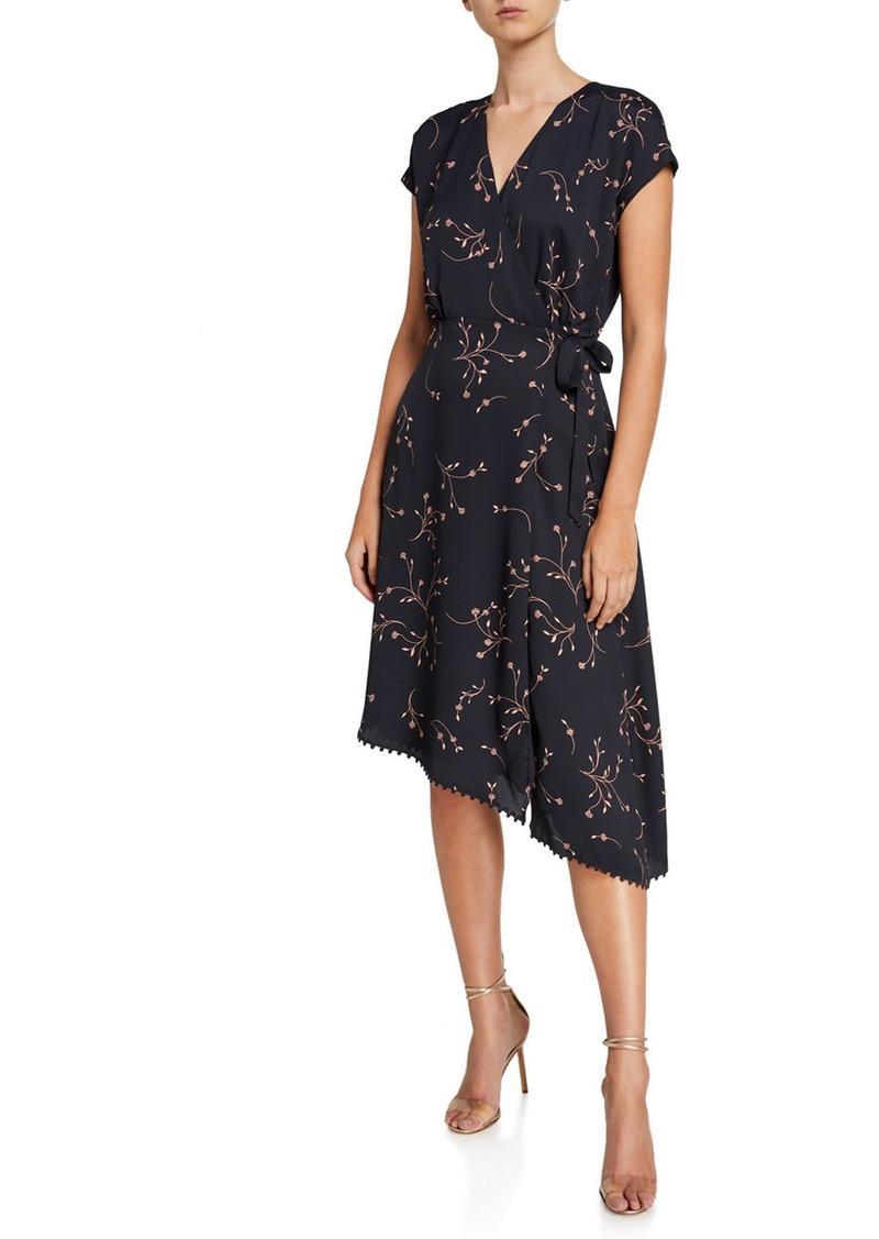 Joie Bethwyn E Floral Asymmetrical Wrap Dress