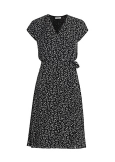Joie Bethwyn Floral Silk Wrap Dress