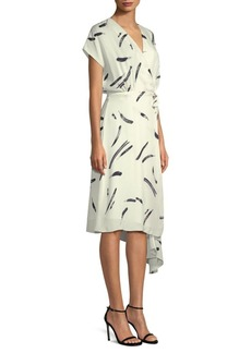 Joie Bethwyn Print Silk Wrap Dress