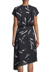 Joie Bethwyn Printed Short-Sleeve Wrap Dress
