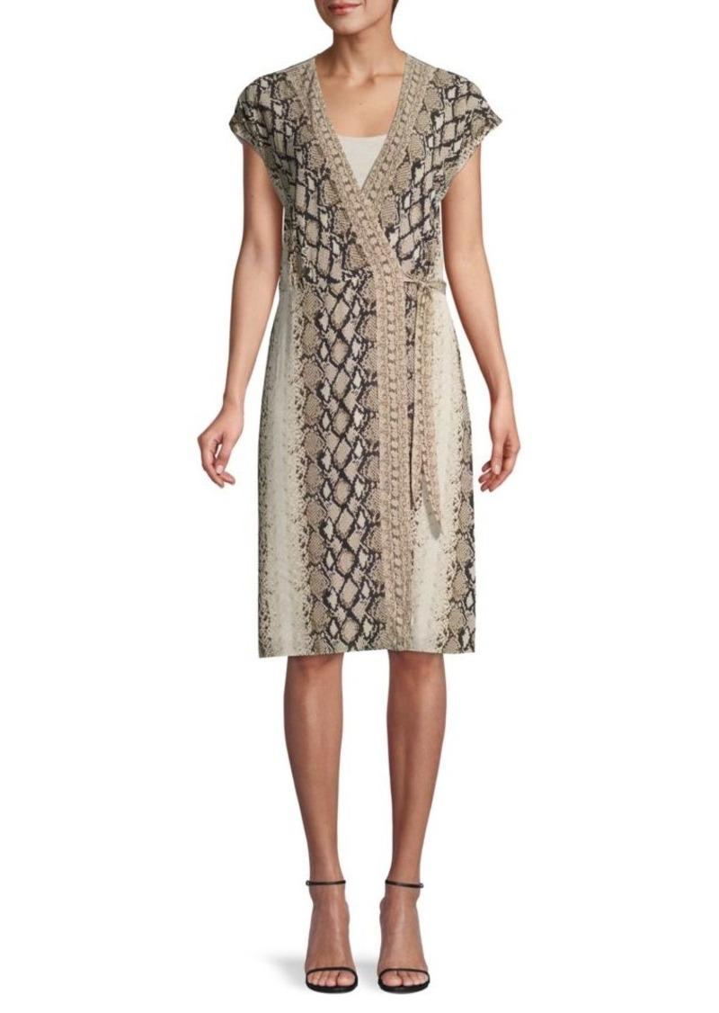 Joie Bethwyn Snake-Print Wrap Dress
