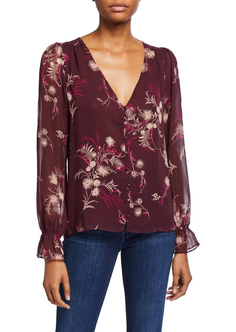 Joie Bolona Floral Button-Front Blouse