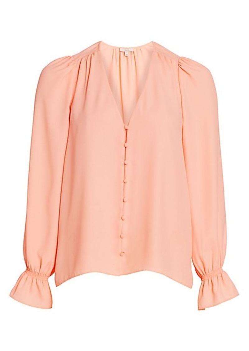 Joie Bolona Long Puff-Sleeve Blouse